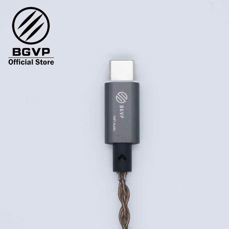 BGVP T01 USB DAC HIFI مضخم الصوت نوع c ميكروشب مع محول متوافق مع الهاتف المحمول الكمبيوتر ويندوز OS