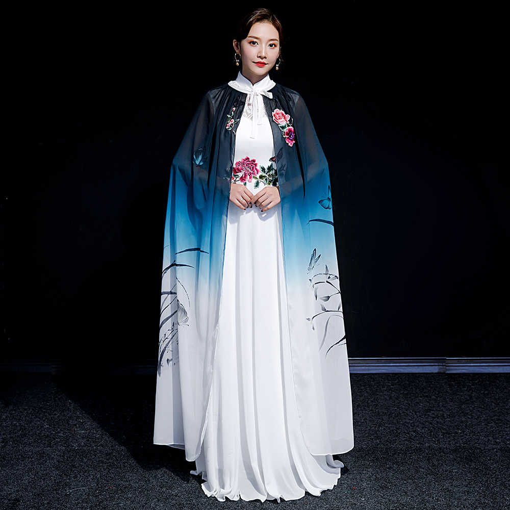 Винтажное платье из 2 предметов в китайском стиле; Темпераментное вечернее платье; Кружевное платье для сцены; Элегантное тонкое платье для выпускного вечера Hanfu; Большие размеры 3XL