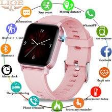 LIGE-Reloj Inteligente para hombre y mujer, accesorio de pulsera resistente al agua IP68 con seguimiento de actividad deportiva, complemento electrónico de Android ios