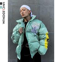 UNCLEDONJM männer Warme Winter Jacke Lustige Gedruckt Bomber Dicken Mantel Männlichen Parkas Streetwear Jacken Hip Hop Oberbekleidung 311
