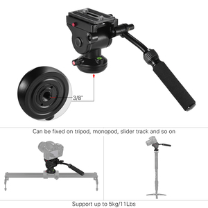 Image 4 - Штатив Andoer для видеокамеры, гидравлическая панорамная Экшн камера с панорамным тормозом для Canon, Nikon, Sony, DSLR