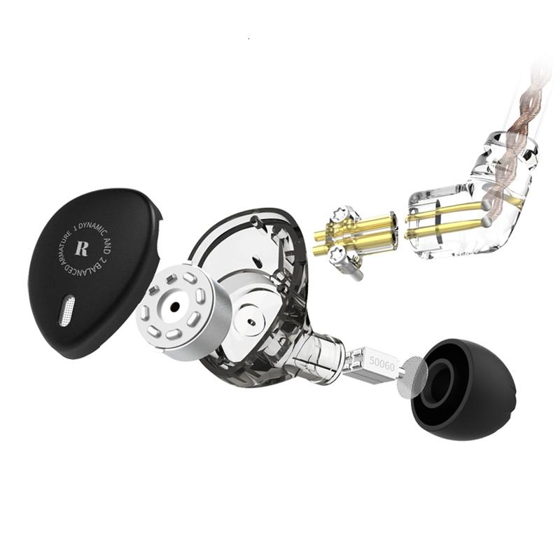 Kbear kb06 hybrid 2ba+1dd hifi stage dj monitor in ear earphone with qdc connector earplug