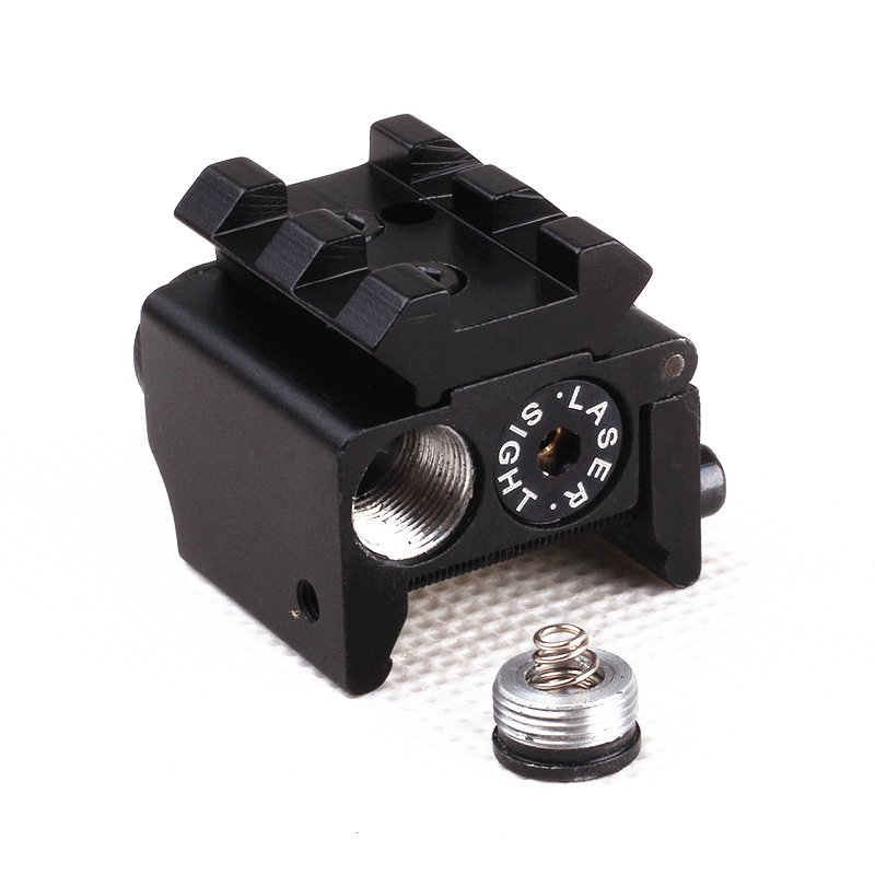 Tactical Red Laser Sight Pointer 300m with 20mm Rail Mount  for Glock 17 19 Pistol Guns Hunting Accessory-4