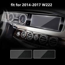 2 Stks/partij Gehard Glas Auto Center Console Instrument Panel Of Achterbank Screen Protector Film Voor Mercedes Benz S klasse W222