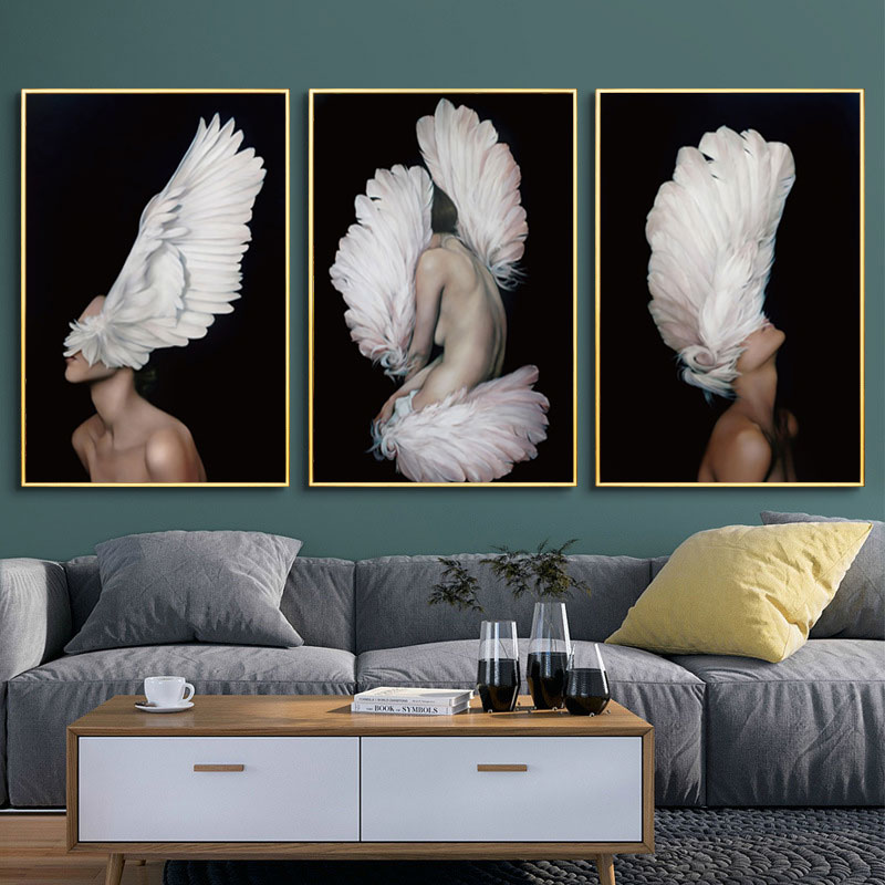 H40ec9ef9d29449fe9ebda5f89a0cd90bs Modern Nordic Black And White Canvas Painting Art Print Wall Poster Abstract Girl Wall Pictures Wall Art for Bedroom Living Room