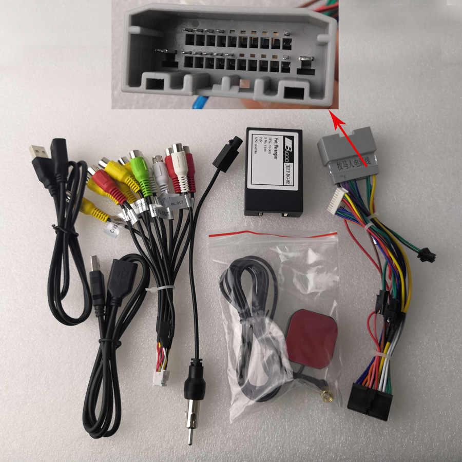 Reproductor para coche DSP HD Android 10,0 con 2G, 32G, GPS, mapa, WIFI, BT, RDS, Radio para Jeep Compass Commander, Wrangler, Chrysler, Sebrin, Sebring 330C