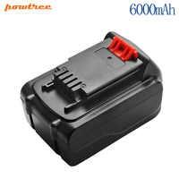 Powtree 2.0/6.0mAh Li-ion LB20 batterie Rechargeable Pour Black & Decker LB20 LBX20 LST220 LSW20 SSL20SB SSL20SB-2 ASL186K ASL188K