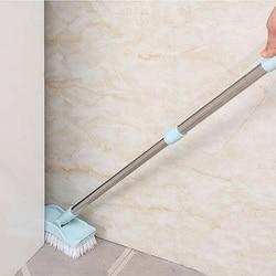 Regulowana łazienka podłogi do czyszczenia szorowania szczotka z długą rączką teleskopową do wanny P666 w Zarękawki od Dom i ogród na