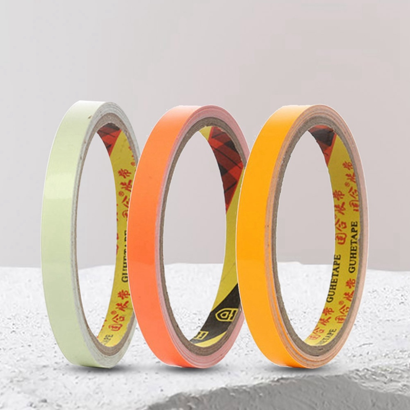 Luminous Tape Fluorescent Colorful Self-adhesive Reflective Glow Tape In Dark Safety Warning Security Stage Home Decoration Tape