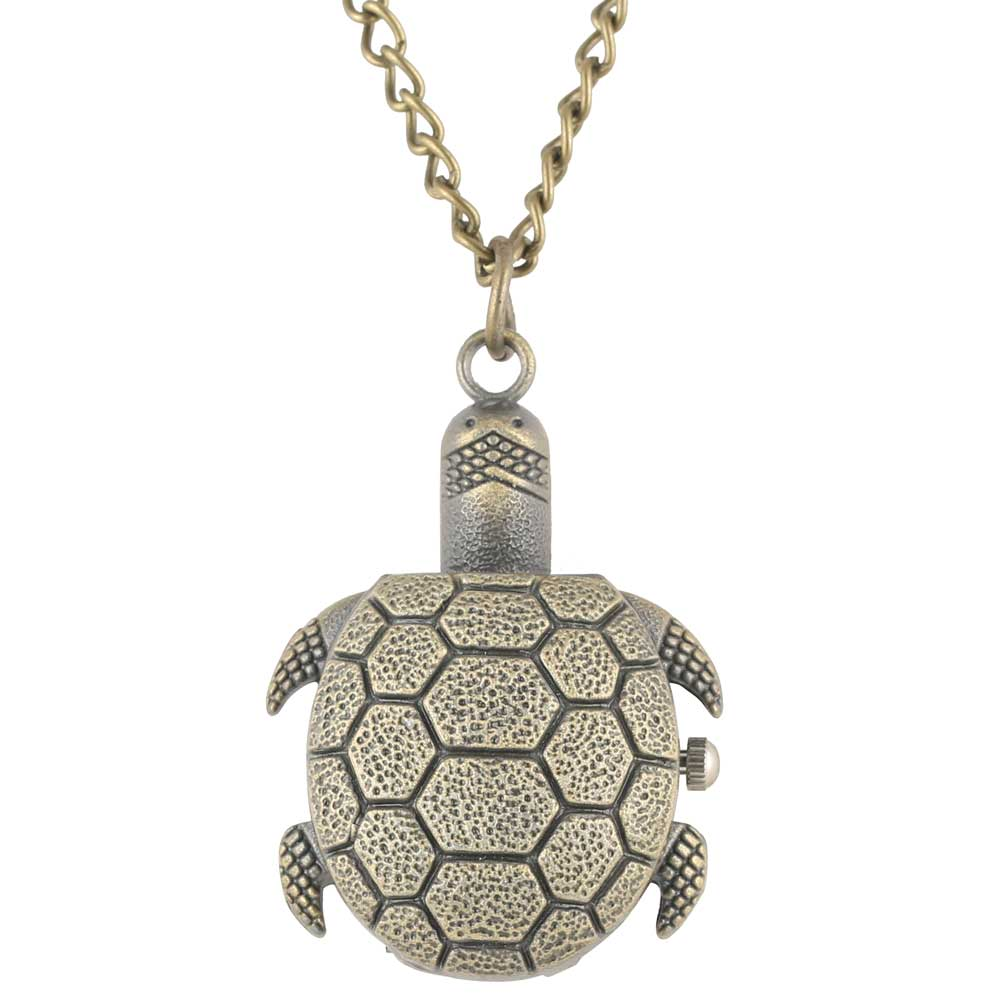 Creative Tortoise Shape Pocket Watch Male High Quality Bronze Alloy Case Male Pendant Watch Kids Gift Reloj De Bolsillo