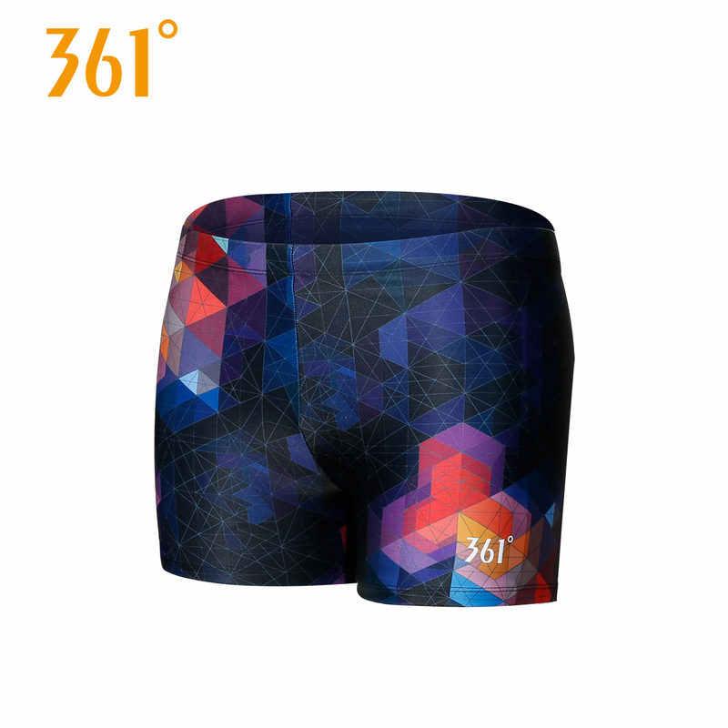 361 Mens Trunks Professional Swim Trunks Elastic Breathable Swim Shorts Boxer Trunks Summer Beach Pool Swim Short Pants Swimwear