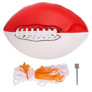 Futbol amerykański rozmiar 3 Sport na świeżym powietrzu piłka do rugby amerykański do grania w piłkę nożną rozrywka biały czerwony knaga tanie i dobre opinie