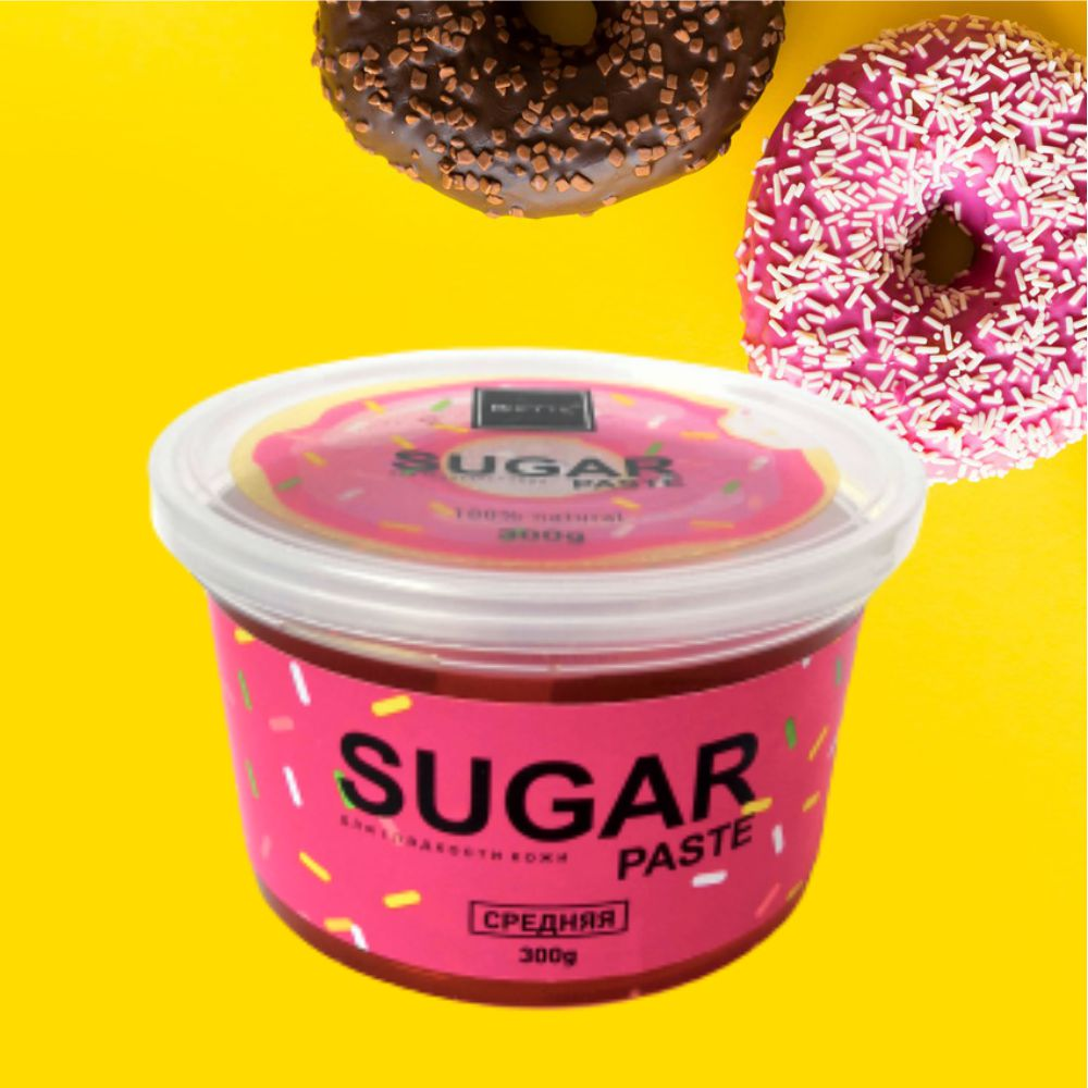 BIETTE Сахарная паста для шугаринга Средняя, 300 гр / Комфортное удаление волос в домашних условиях