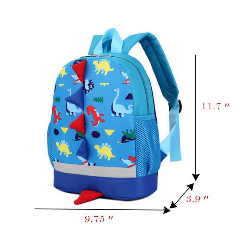 Tas Anak Lucu Kartun Dinosaurus Anak-anak Tas TK Prasekolah Ransel untuk Anak Laki-laki Perempuan Bayi Tas Sekolah 3-4- 6 Tahun