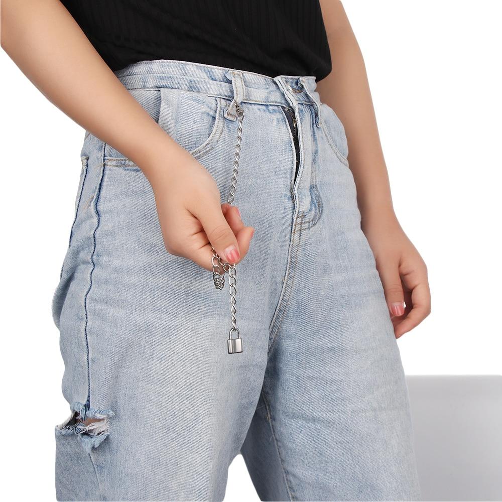 1 шт., длинные брюки, хипстерские брелки, панк-улица, большое кольцо, металлический кошелек, пояс, цепь, штаны, брелок, унисекс, хип-хоп ювелирные изделия, хороший подарок - Цвет: Темно-коричневый