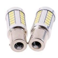 СВЕТОДИОДНЫЙ Автомобильный 2x белые лампы BA15S P21W 1156 Обратный светильник 12V 33-SMD 5630 5730
