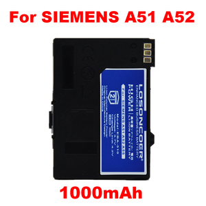 1000mAh EBA-510 for Siemens A51, A52 A55 A56 A57,A60,A62,A65,A75,C55,C56,C60,C61,C70, C71,A70 S55 CT56 M55 M56 M60 MC60 battery(China)