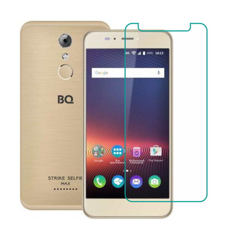 Tempered Glass For BQ BQ-5504 Strike Selfie Max Bq5504 GLASS 9H Protective Film Clear LCD Screen Protector Phone Case Cover