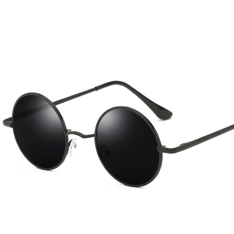 Retro Punk Style Round Polarized Sunglasses  Men Women Brand Designer Round Metal Frame  High Quality  Sun Glasses UV400