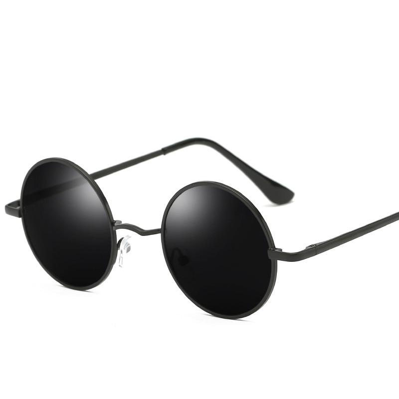 Retro Punk Style Round Polarized Sunglasses  Men Women Brand Designer Round Metal Frame  High Quality  Sun Glasses UV400