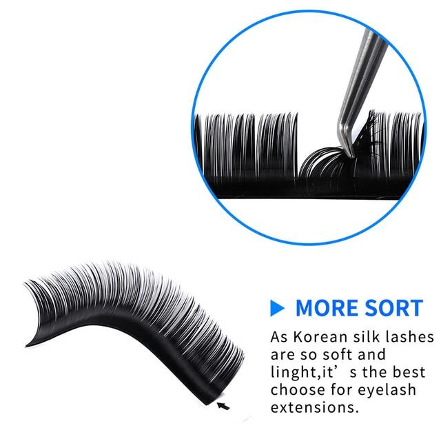 16Rows Individual Eyelash Extension Faux Cils Mink False Eyelashes Artificial lashes For Makeup Supplies HandMade Natural Lash 3