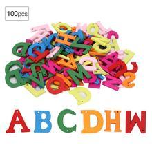 Украшение 100 шт деревянные буквы Ремесло Красочные ручные ремесла детские учебные материалы led