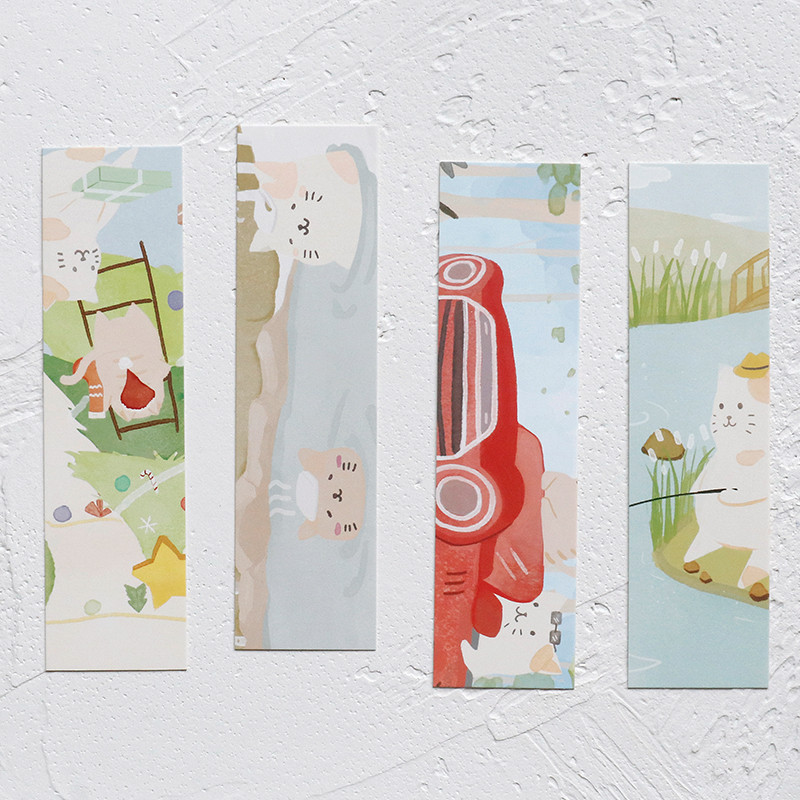 30 Pcs/lot Cute Cat Paper Bookmark Paper Cartoon Animals Bookmarks Students Gift Stationery School Supplies