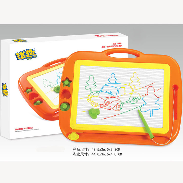 Children Early Education Toy Color Magnetic Stamp Sketchpad Drawing Doodle Board Magnetic Drawing Board 888a