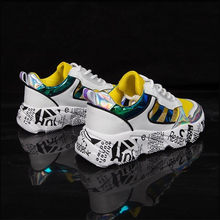 Mhysa 2019 Fashion Graffiti Sneakers Women New Women Vulcanize Shoes Platform Breathable Women Flats Female Chunky Sneakers L645(China)