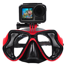 Underwater Camera Diving Mask Swimming Goggles For Dji Osmo Action/Gopro//Sjcam Sports/Action Camera(China)