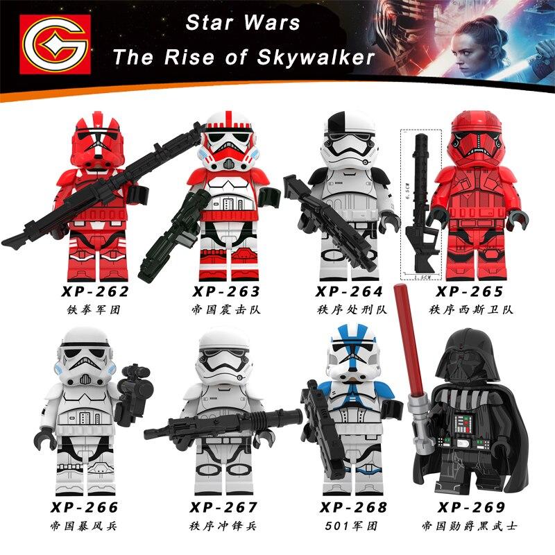 Starwars Sheev Palpatine Poe Dameron Mandalorian Rey Finn Darth Vader Starwars The Rise Of Skywalker Building Blocks