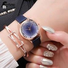 Модные роскошные женские наручные часы творческая личность простой