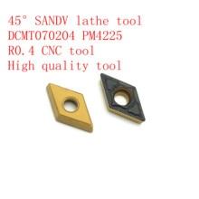 45° SANDV high quality lathe tool DCMT070204 PM4225 carbide internal turning tool, R0.4 CNC finishing