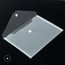 10-50 pces, a5 plástico transparente, pasta de arquivo, saco de arquivo, pasta de saco de arquivo, armazenamento de papel, material escolar, escritório