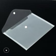 50 A5 przeźroczyste tworzywo sztuczne teczki na dokumenty teczki na dokumenty teczki na dokumenty przechowywanie papieru artykuły szkolne biuro tanie tanio Folder prezentacji 24cm*17cm