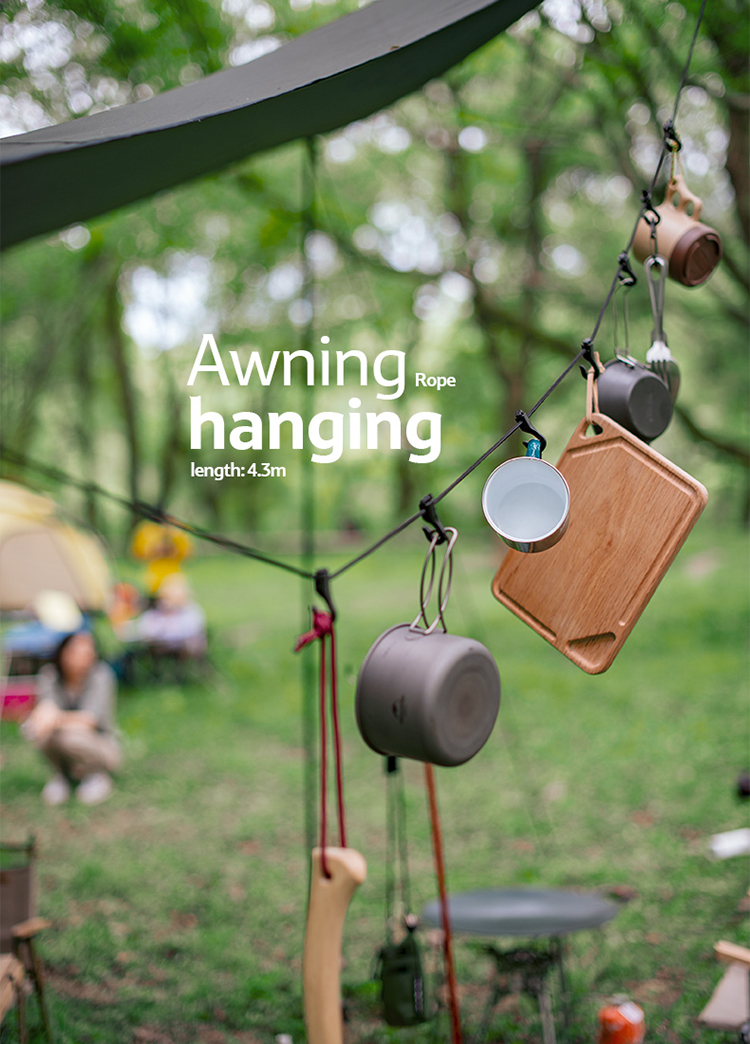 Outdoor Camping Storage 19 Hooks Strap