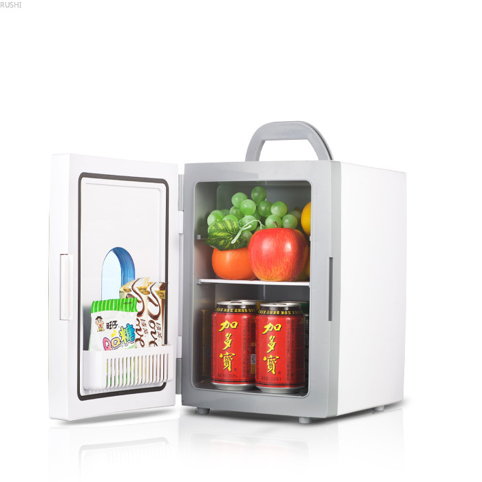 Factory Direct 10L Mini Car Refrigerator Car Home Dual-purpose Keep Cold Fresh Portable 10L Mini Fridge With Free Shipping