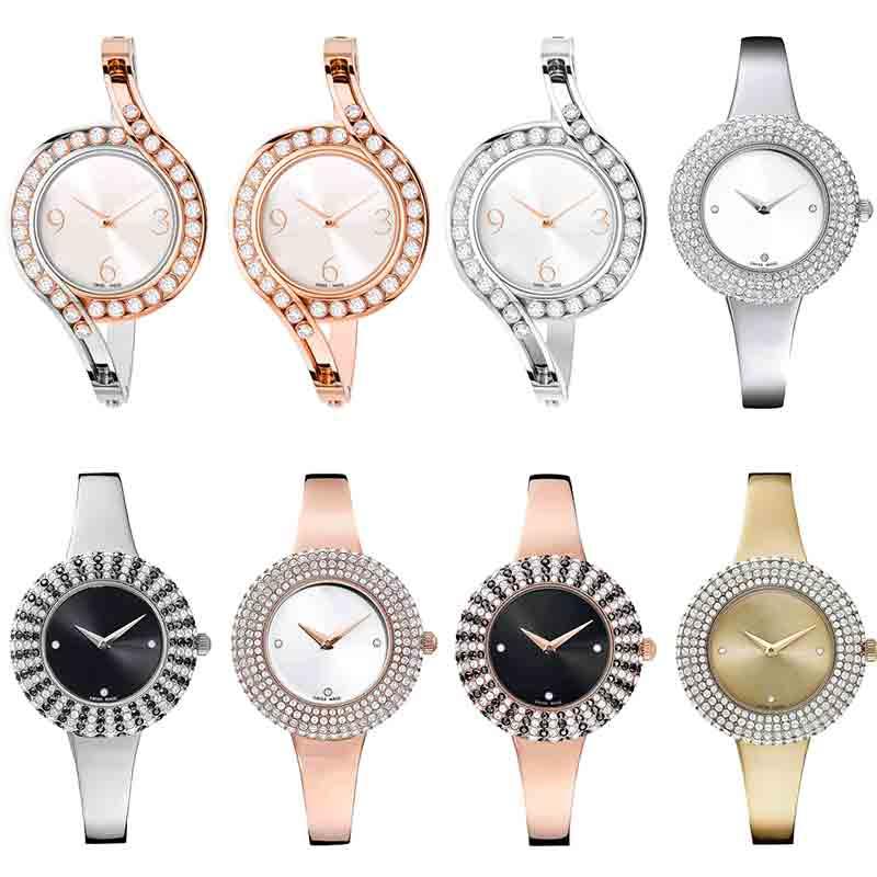 High Quality Original SWA Austrian Brand Watch Crystal Stainless Steel Quartz Watch Men And Women Couple Luxury Watch Gift