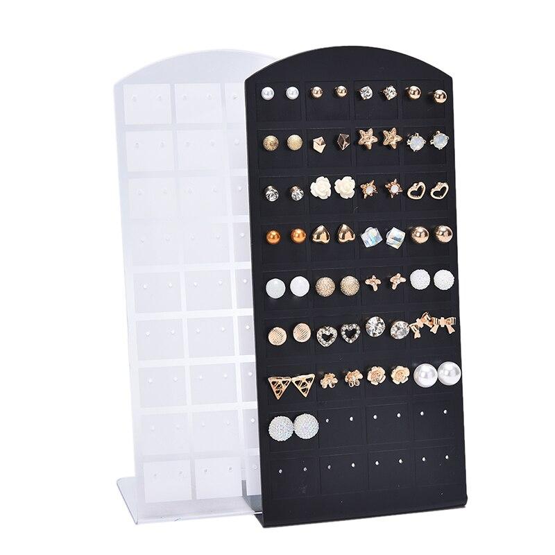 1pc de alta qualidade jóias brinco orelha studs organizador suporte mostrar exibição rack vitrine