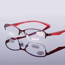 Металлические очки для чтения женские и мужские винтажные полуобода