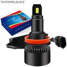 Mini H3 H11 Led H4 H1 H7 Led Headlight Bulb Hb3 9005 Hb4 9006 60w 15000Lm H8 Hir2 9012 Fog Lamp 6000K 12V Turbo Light Assembly