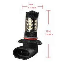 HB4 9006 16-LED 80W 7000K 1920LM High Power Fog Driving Light Bulbs — White