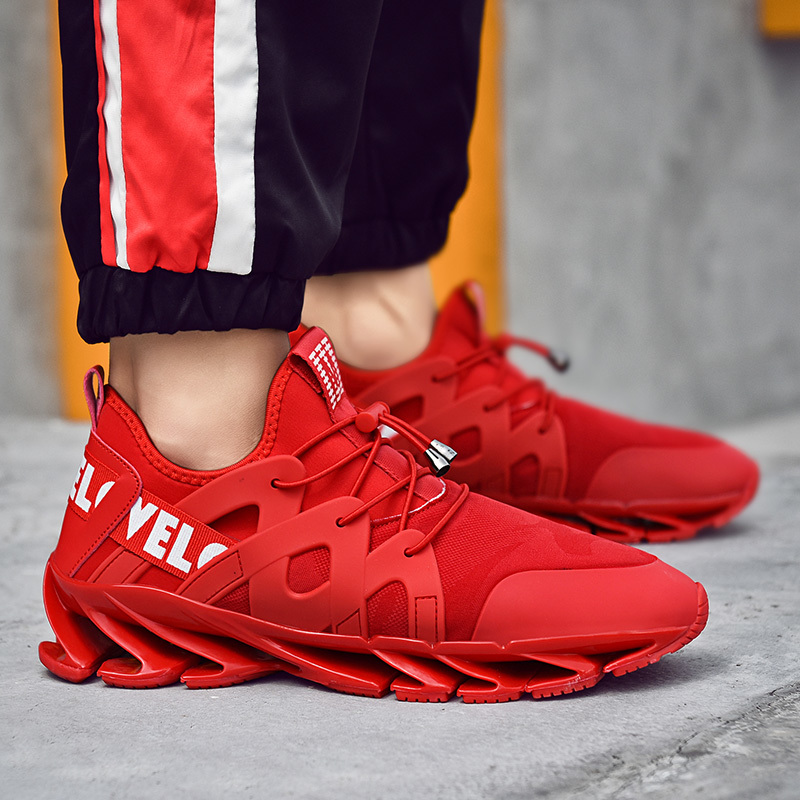 Mens Fashion Casual Blade Shoes Lace-Up Breathable Sneakers Men Walking Shoes Outdoor Jogging Comfortable Soft male Footwear