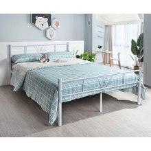 Żelazna rama łóżka prosta nowoczesna sypialnia dormitorium pojedyncze podwójne nastoletnie dorośli meble do domu łóżko firmy podwójne łóżko rama łóżka