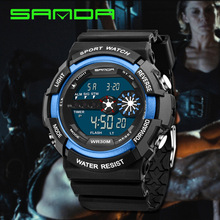 Hot Selling Students Watch Outdoor Sports Waterproof Watch Multi-functional MEN'S Watch Diving Watch SANDA Table