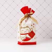 50pcs Drawstring Gift Bag Set Printed Portable Candy Biscuits Food Packing Storage Bags Baking Wrapper candy gift wrap bag 2020