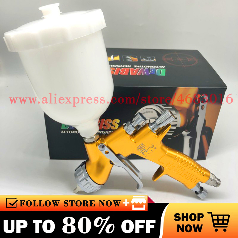 Gold Spray Paint Gun For Car Hvlp TE20  T110 1.3mm Airbrush Accessories Car Wash Equipment Nozzle For Spray Gun Oiler W-101 2019