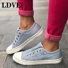 Fashion Women Sneakers Denim Casual Shoes Female Summer Canvas Shoes Trainers Lace Up Ladies Basket Femme Tenis Feminino стоимость