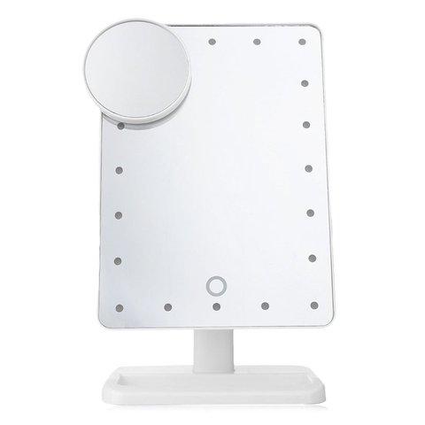 Port til led sensor de toque espelho com l mpada desktop espelho de maquiagem multi