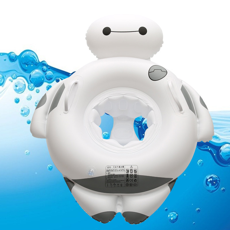 New Baby Cartoon Swim Float Circle Ring Safe Inflatable Baymax Baby Arm Rings Kids Swimming Seat Summer Water Swimming Pool Toys